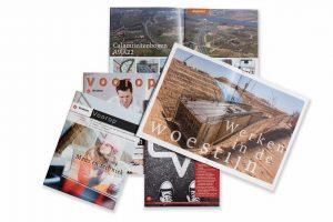 Portfolio: artikelen, magazines, jaarverslagen, nieuwsbrieven, persberichten, social media, blogs, teksten, schrijven, redactie, eindredactie, correctie